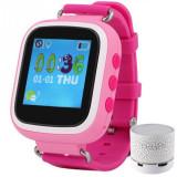 Cumpara ieftin Ceas Smartwatch cu GPS Copii iUni Kid90, Telefon incorporat, Buton SOS, Bluetooth, LCD 1.44 Inch, Roz + Boxa Cadou