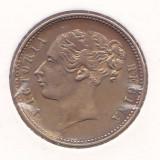 Jeton Anglia Regina Victoria - pentru  jocuri de carti ( XF - circa 1850 - RAR )
