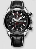 Cumpara ieftin Ceas Megir 2045 - Fashion Sport Cronograf Negru Curea piele