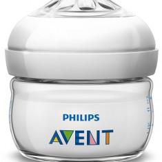 Philips-Avent Biberon Natural 60 ml, Tetină ce imita forma sanului mamei, pentru primul debit