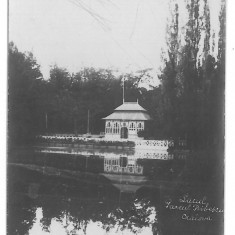 4521 - CRAIOVA, Bibescu Park, Romania - old postcard, real PHOTO - unused, Necirculata, Fotografie