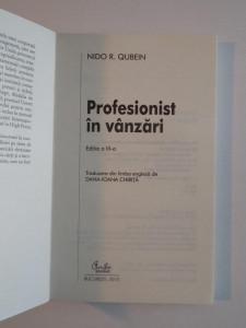 PROFESIONIST IN VANZARI de NIDO R. QUBEIN 2010