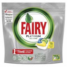 Tablete detergent pentru masina de spalat vase capsule Fairy Platinum All in One, 16 bucati