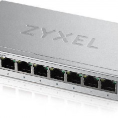Zyxel gs1200-8 8-port gbe web smart metal switch fanless