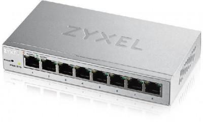 Zyxel gs1200-8 8-port gbe web smart metal switch fanless foto