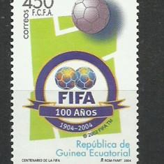 GUINEA ECUATORILA 2004 FOTBAL CENTENAR FIFA, Nestampilat