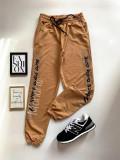 Cumpara ieftin Pantaloni dama casual maro tip jogger cu imprimeu Since Day One