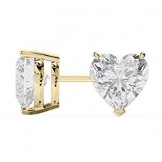Cercei Sapphire Heart Gold