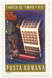 România, LP 800/1972, Centenarul Fabricii de Timbre, MNH, Nestampilat