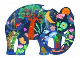 Puzzle Djeco Elefant, 150 piese
