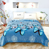 Cumpara ieftin Patura Cocolino, Pat Dublu, 200×230 cm, fluturi albastrii