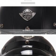 Casca Moto Vintage, marimea M, negru
