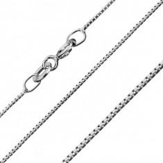 Lănțișor argint - cuburi mici, unite, 0,7 mm