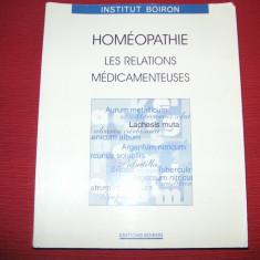 Homeopatie - Homeopathie - Les relations medicamenteuses - Francois Chefdeville