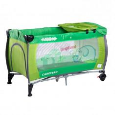 Patut pliabil pentru baieti Caretero MEDIO Safari PCMS3-V, Verde