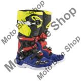 MBS Cizme motocross Alpinestars Tech5, albastru/negru/galben/rosu, 10=44.5, Cod Produs: 2015015715310AU