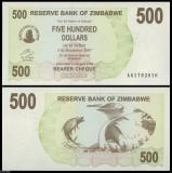 = ZIMBABWE - 500 DOLLARS - 2006 - UNC    =