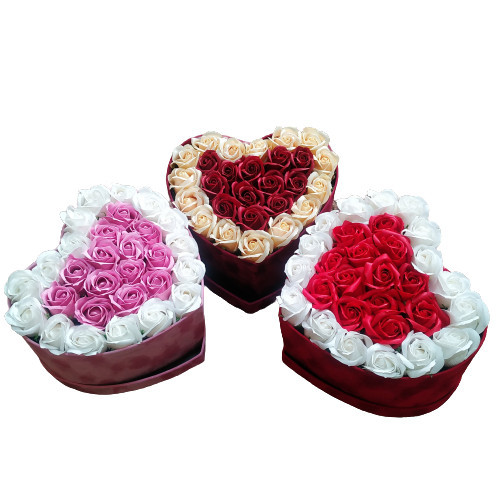 Cutie Catifea Cu trandafiri Parfumati de Sapun
