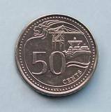 SINGAPORE - 50 Cents 2014, Asia, Nichel