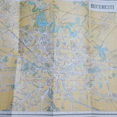 București , Hartă turistică  color, 1972