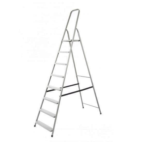 Scara aluminiu pliabila, 8 trepte, platforma, 125kg, Strend Pro D8 Mania Tools