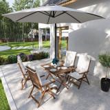 Set pentru terasă format din masă și 4 scaune MIMO I, lemn masiv de salcâm