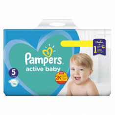 Scutece Pampers Active Baby Junior 5 Mega Box, 11-18 kg, 110 buc