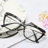 Ochelari dama lentila transparenta cat eye rama neagra