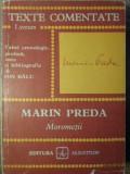 MOROMETII, LYCEUM TEXTE COMENTATE - MARIN PREDA