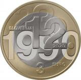 NOU - Slovenia moneda comemorativa 3 euro 2020 - Referendum - UNC, Europa