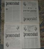 ziar Procesul, anul I/1990,4 nr,ziare,printre primele dupa Revolutie anii 90