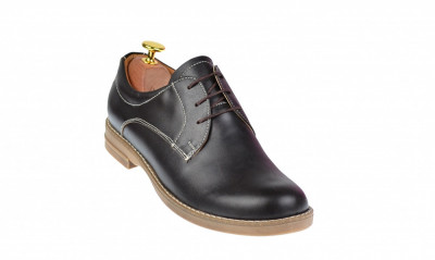 Pantofi dama casual din piele naturala maro box - LP102MBOX foto