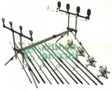 Kit 4 Lansete Crap Super Point 3.6m 3 Tr. 3.75 lbs,mulinete 13 rul. rod pod full