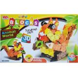 Joc constructii Puzzle 3D ANIMAL WORLD, 275 piese