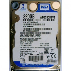 hdd laptop Hard Disk WD3200BEVT-22ZCT0 WD Scorpio Blue 320GB SATA 2