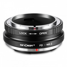 K&F Concept FD-Nik Z adaptor montura de la Canon FD la Nikon Z6 Z7 KF06.366