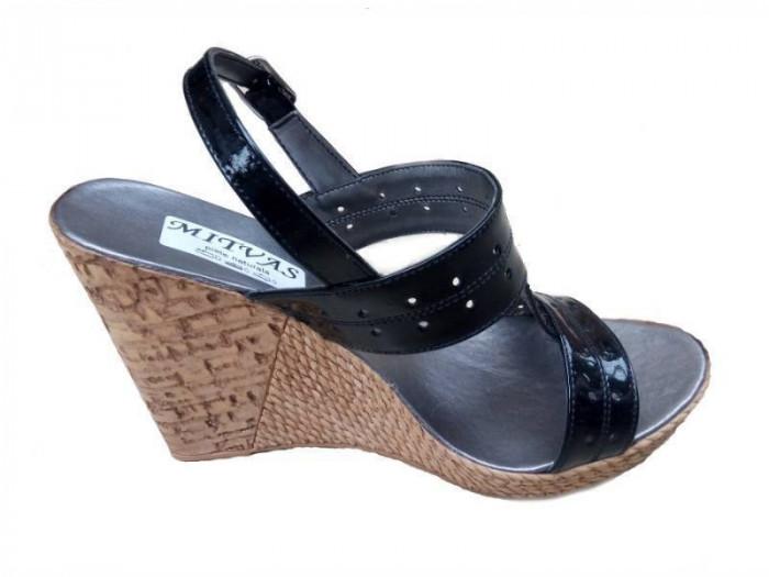 Sandale dama din piele naturala cu platforma S300NLAC