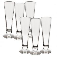 Set pahare bere Luigi Bormioli, 6x260 ml, Transparent
