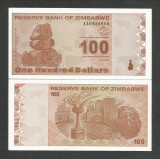 ZIMBABWE 100 DOLARI DOLLARS 2009 UNC [1] P- 97 , necirculata