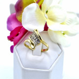 Inel aur 14K,cu pietre Zirconia, cod 179835