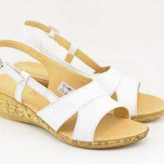 Sandale dama din piele naturala cu platforma - ELIONS2A