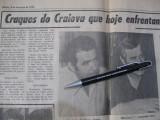 Turneu Universitatea Craiova in Brazilia, februarie 1975, ziar, stare buna