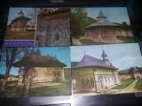 17 Carti postale vechi MANASTIRI din ROMANIA,T.GRATUIT