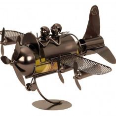 Suport pentru Sticla Vin model Avion H30cm Latime 49 cm