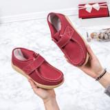 Pantofi dama casual Piele rosii Bisos-rl