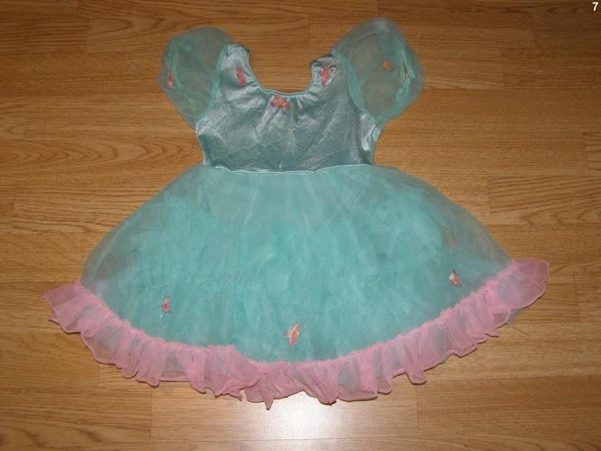 costum carnaval serbare rochie dans balet pentru copii de 4-5 ani