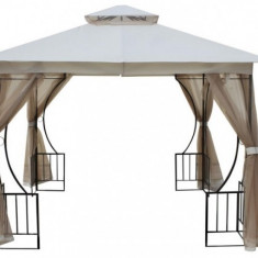 Pavilion,cort gradina RAKI 3x3m cadru metalic bej cu plasa antitantari MN0166251 Raki