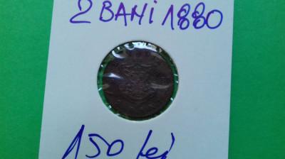 Moneda 2 Bani 1880 foto