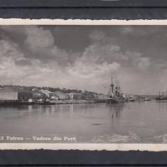 TULCEA  VEDERE  DIN PORT  CIRCULATA 1941 CENZURA - COMISIUNE DE CENZURA TULCEA