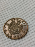 2 bani 1900, R de la REGE intrerupt